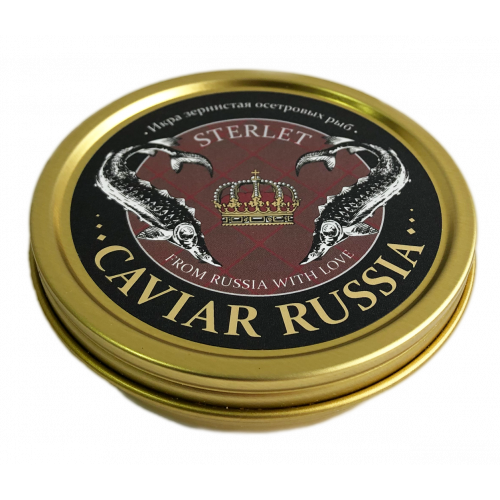 Икра стерляди CAVIAR RUSSIA STERLET, 125 г
